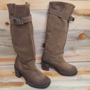 Les Lolitas Burnished Suede Knee High Boots